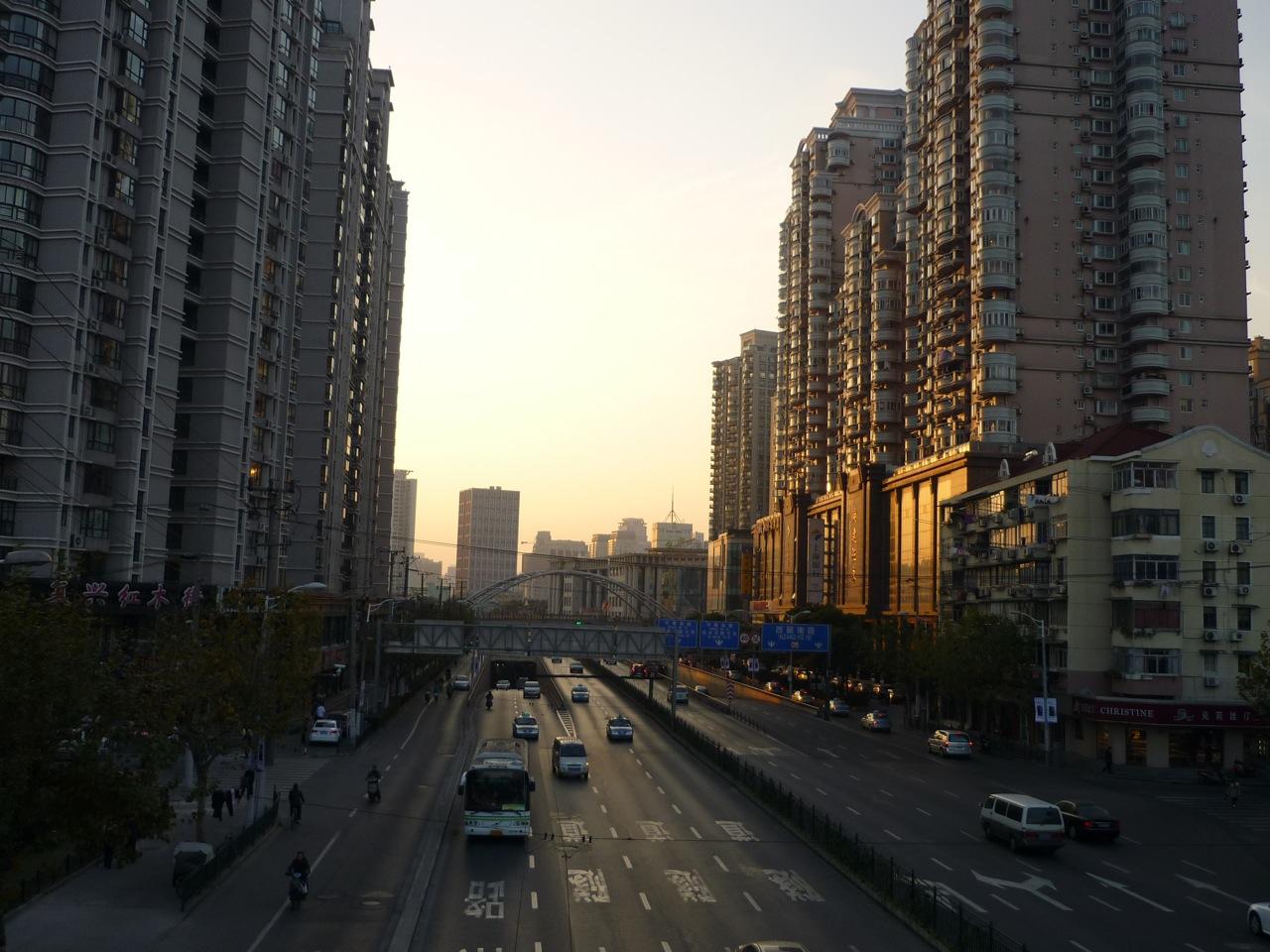 Sonnenuntergang in Puxi