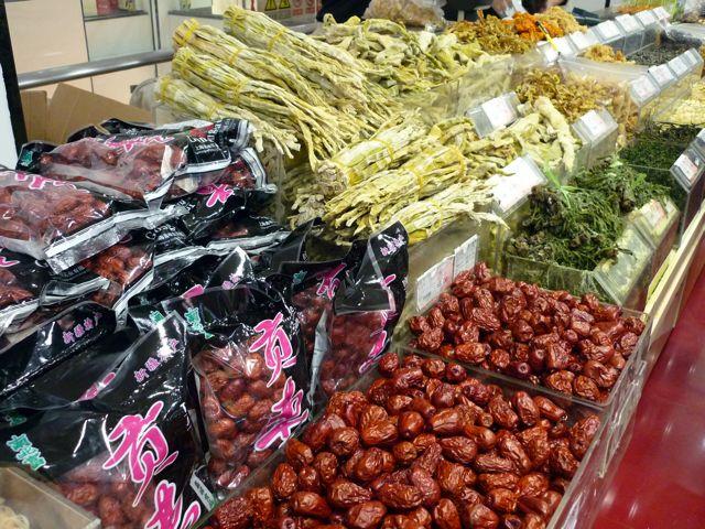 Getrocknetes Obst und Algen
