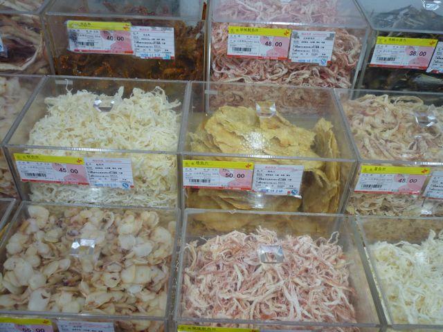 Getrocknete Fischteile